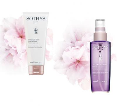 Gommage corps ressourcant sothys cerisier lotus