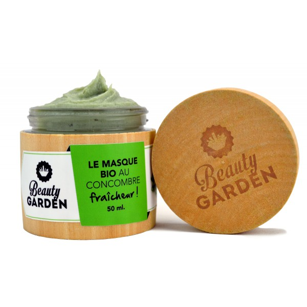 Masque bio concombre BEAUTY GARDEN